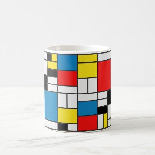 Estilo de Mondrian Tazas