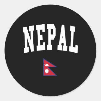 Estilo de Nepal Etiquetas Redondas