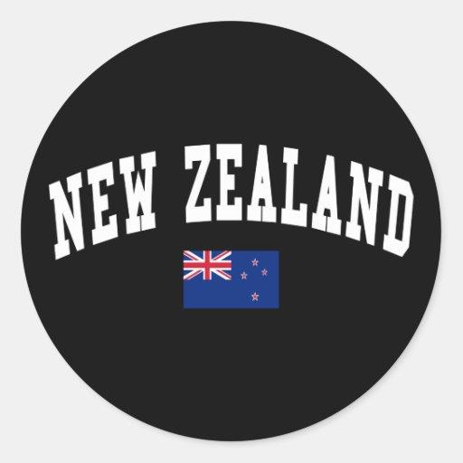 Estilo de Nueva Zelanda Etiquetas Redondas