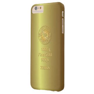 Estilo de oro del lingote de oro funda de iPhone 6 plus barely there
