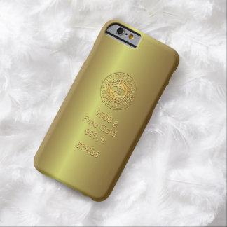 Estilo de oro del lingote de oro funda para iPhone 6 barely there