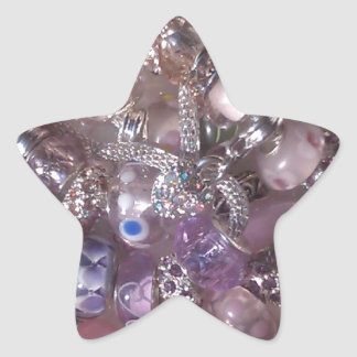 estilo de Pandora de las pulseras de las cuentas Calcomania Forma De Estrella Personalizada