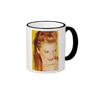 estilo de pelo del hairsalon tazas de café
