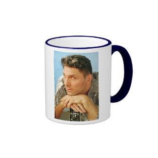 estilo de pelo para hombre del hairsalon taza de café