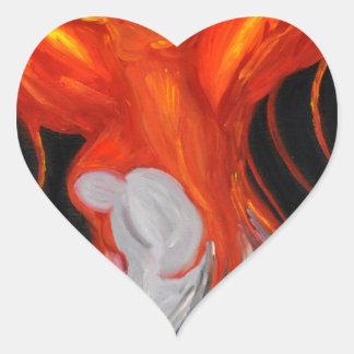 Estilo de Phoenix Pegatina En Forma De Corazón