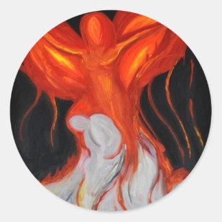 Estilo de Phoenix Pegatina Redonda