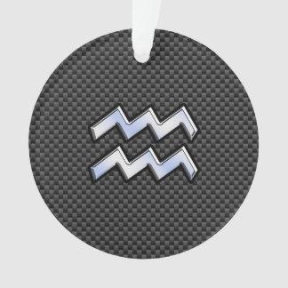 Estilo de plata de la fibra de carbono del símbolo