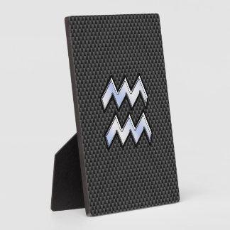 Estilo de plata de la fibra de carbono del símbolo placas de plastico