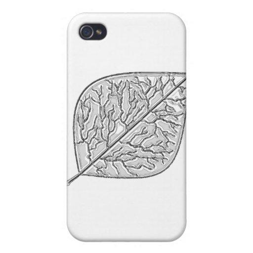 Estilo de plata iPhone 4 cobertura