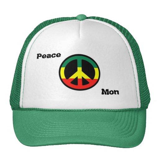 Estilo de Rasta de la paz Gorra