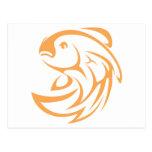 Estilo de salto del logotipo del icono del chasqui postal