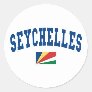 Estilo de Seychelles Pegatina Redonda