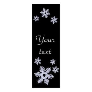 Estilo de Snowflake~ señales Tarjetas De Visita Mini
