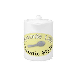 Estilo de Spoonie - tetera amarilla suave