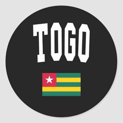 Estilo de Togo Pegatina Redonda