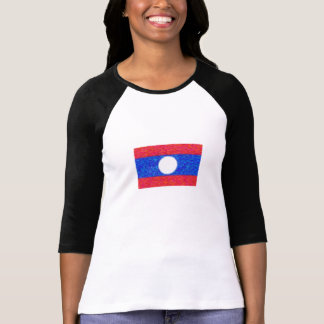 Estilo de Van Gogh de la bandera de Laos Poleras