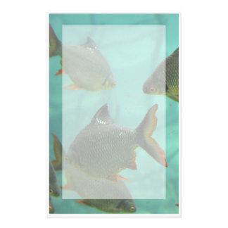 Estilo del acuario inmóvil papelería de diseño