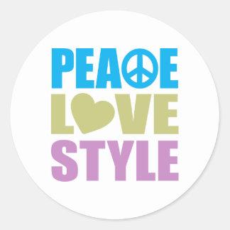 Estilo del amor de la paz etiquetas