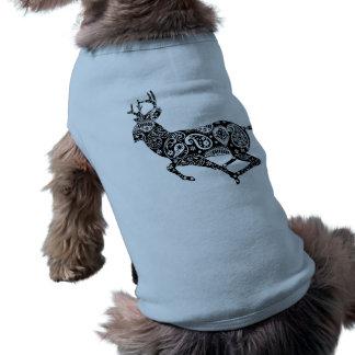 Estilo del animal de los ciervos playera sin mangas para perro
