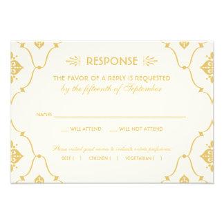 Estilo del art déco de la tarjeta el de RSVP del Invitacion Personal