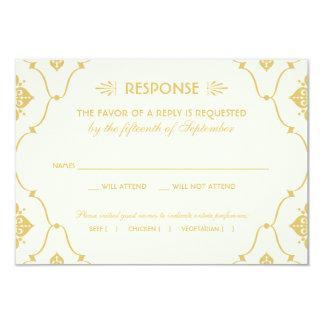 Estilo del art déco de la tarjeta el | de RSVP del Invitacion Personal