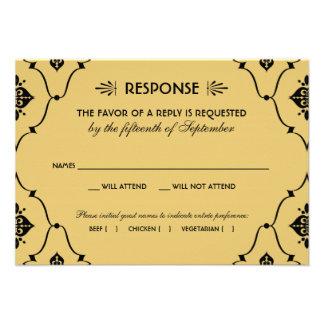 Estilo del art déco de la tarjeta el de RSVP del Invitación