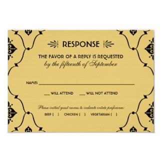 Estilo del art déco de la tarjeta el | de RSVP del Invitación