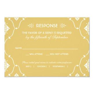 Estilo del art déco de la tarjeta el | de RSVP del Invitación Personalizada