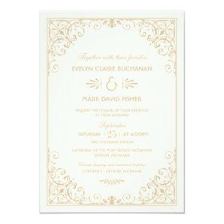 Estilo del art déco de las invitaciones el | del invitación 12,7 x 17,8 cm