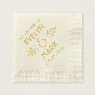 Estilo del art déco de las servilletas el | del bo servilletas de papel
