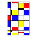 Estilo del arte de Mondrian Papeleria De Diseño