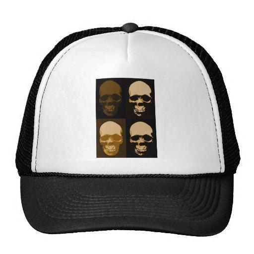 Estilo del arte pop de los cráneos gorras de camionero