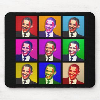 Estilo del arte pop de Obama Tapetes De Ratón