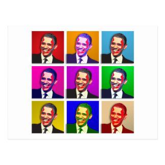 Estilo del arte pop de Obama Tarjetas Postales