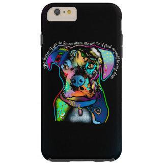 Estilo del arte pop del perro del boxeador para funda de iPhone 6 plus tough