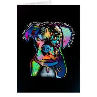 Estilo del arte pop del perro del boxeador para tarjeta de felicitación
