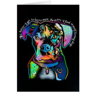 Estilo del arte pop del perro del boxeador para tarjeta pequeña