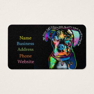 Estilo del arte pop del perro del boxeador para tarjeta de negocios