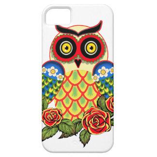 Estilo del búho y del mexicano de los rosas funda para iPhone SE/5/5s