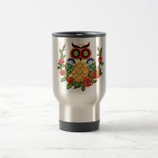 Estilo del búho y del mexicano de los rosas tazas de café