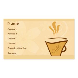 Estilo del café tarjetas personales