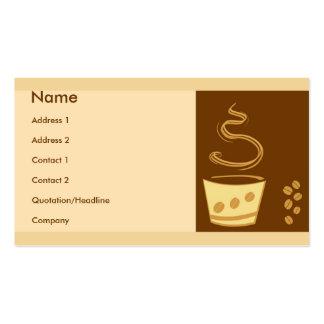 Estilo del café plantilla de tarjeta personal