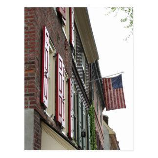 Estilo del Colonial del patriotismo Tarjeta Postal