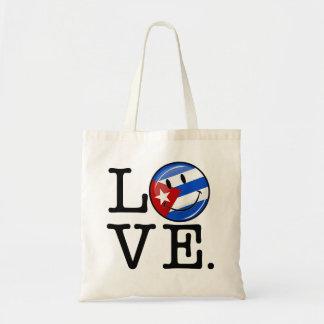 Estilo del cubano del amor bolsa tela barata