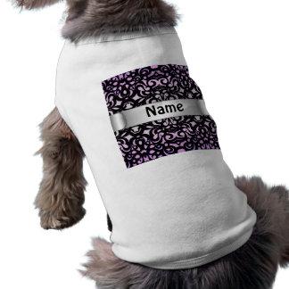 Estilo del damasco de la ropa del mascota camisetas de mascota