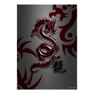 Estilo del dragón rojo impresiones