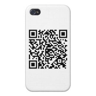 Estilo del drogadicto del código de QR iPhone 4/4S Funda