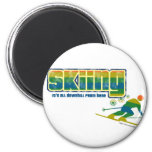 Estilo del esquí del vintage imán para frigorifico