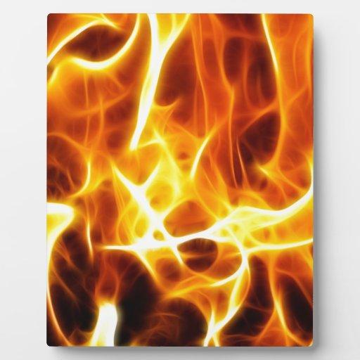 Estilo del fuego placa de plastico