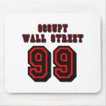 Estilo del fútbol: Ocupe Wall Street - 99 Alfombrilla De Ratón